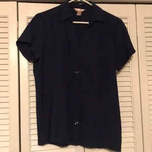 "Women's Medium""WHITE STAG"" Navy Blouse (LIKE NEW!)"